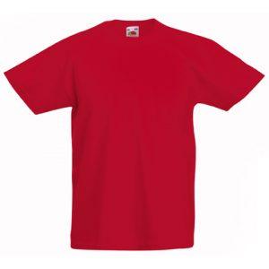 Футболка Fruit of the Loom Kids Valueweight Tee  Red 5-6 Yrs