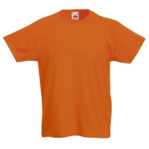 Футболка Fruit of the Loom Kids Valueweight Tee  Orange 7-8 Yrs