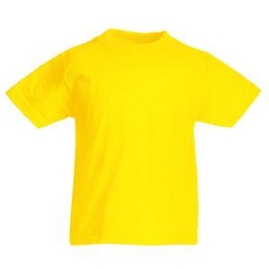 Футболка Fruit of the Loom Kids Valueweight Tee  Yellow 14-15 Yrs