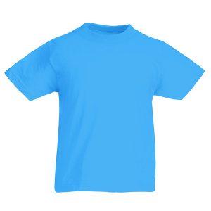 Футболка Fruit of the Loom Kids Valueweight Tee  Azure Blue 9-11 Yrs