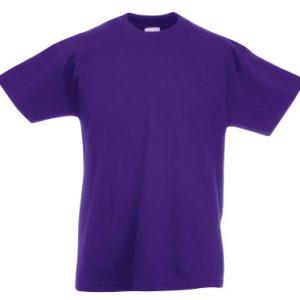 Футболка Fruit of the Loom Kids Valueweight Tee  Purple 7-8 Yrs
