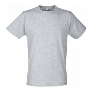 Футболка Fruit of the Loom Valueweight Fitted T Heather Grey 2XL