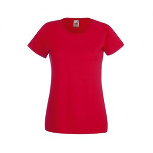 Футболка Fruit of the Loom Lady Fit Valueveight Tee  Red XS