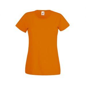 Футболка Fruit of the Loom Lady Fit Valueveight Tee  Orange XS