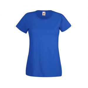 Футболка Fruit of the Loom Lady Fit Valueveight Tee  Royal blue XS