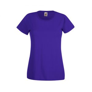 Футболка Fruit of the Loom Lady Fit Valueveight Tee  Purple L