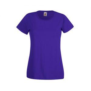 Футболка Fruit of the Loom Lady Fit Valueveight Tee  Purple XS