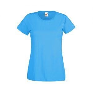 Футболка Fruit of the Loom Lady Fit Valueveight Tee  Azure Blue XL