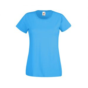 Футболка Fruit of the Loom Lady Fit Valueveight Tee  Azure Blue L