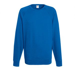Реглан Fruit of the Loom Lightweight Raglan Sweat Royal blue 2XL