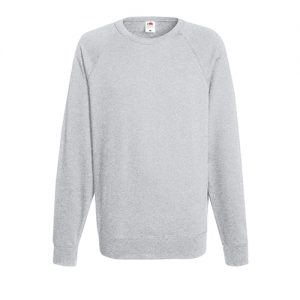 Реглан Fruit of the Loom Lightweight Raglan Sweat Heather Grey 2XL