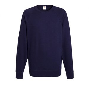 Реглан Fruit of the Loom Lightweight Raglan Sweat Deep Navy 2XL