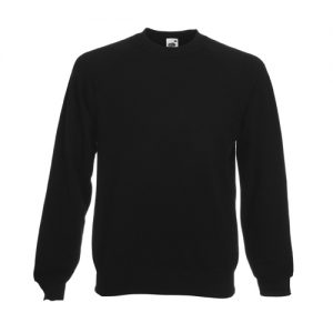 Реглан Fruit of the Loom Raglan Sweat  Black XL