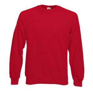 Реглан Fruit of the Loom Raglan Sweat  Red L