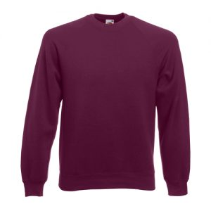 Реглан Fruit of the Loom Raglan Sweat  Burgundy L