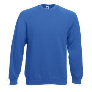 Реглан Fruit of the Loom Raglan Sweat  Royal blue XL