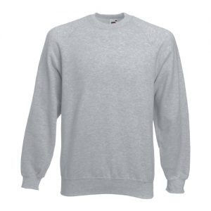Реглан Fruit of the Loom Raglan Sweat  Heather Grey М