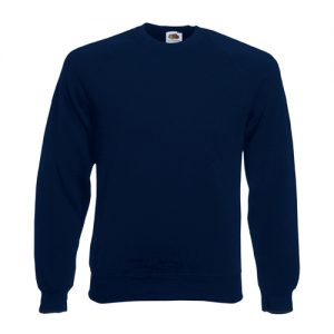 Реглан Fruit of the Loom Raglan Sweat  Deep Navy 2XL