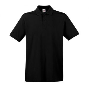 Тенниска Fruit of the Loom  Premium Polo Black XL