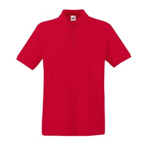 Тенниска Fruit of the Loom  Premium Polo Red 2XL