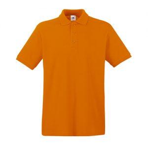 Тенниска Fruit of the Loom  Premium Polo Orange XL