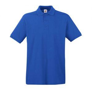 Тенниска Fruit of the Loom  Premium Polo Royal blue XL