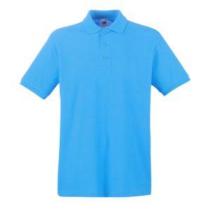 Тенниска Fruit of the Loom  Premium Polo Azure Blue S