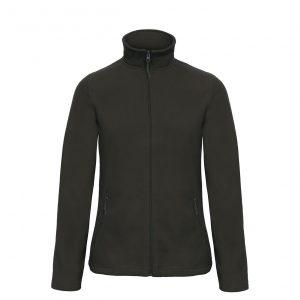 Флисовая куртка B&С  женская на молнии без капюшона ID 501 Black L