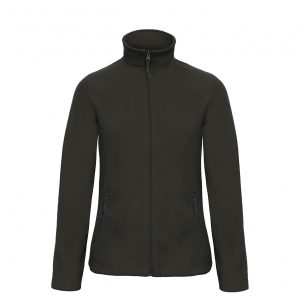 Флисовая куртка B&С  женская на молнии без капюшона ID 501 Black S