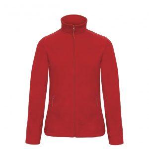 Флисовая куртка B&С  женская на молнии без капюшона ID 501 Red L