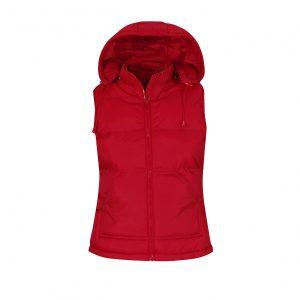 Жилетка B&C Zen женская с капюшоном  Red XL