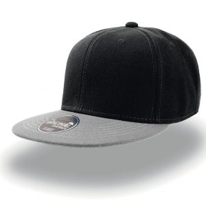 Кепка с прямым козырьком Atlantis Snap Back Nero-Grigio one size fits all