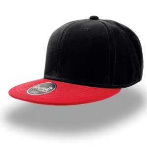 Кепка с прямым козырьком Atlantis Snap Back Nero-Rosso one size fits all