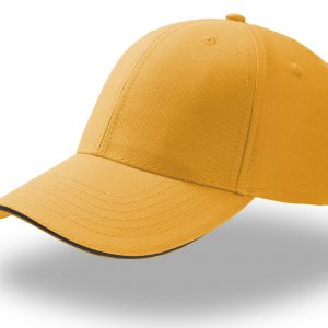 Кепка шестипанельная Atlantis Sport Sandwich Giallo one size fits all
