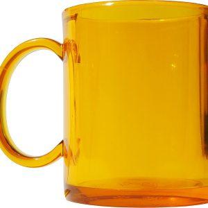 Чашка пластиковая желт.прозр.